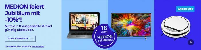 Jubiläumsangebot: 18 Jahre erfolgreicher Verkauf von Medion bei eBay