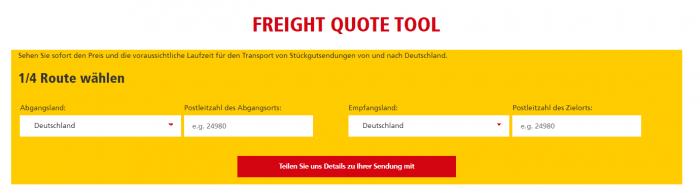 DHL Freight startet Preiskalkulator für Straßentransport in 28 Ländern