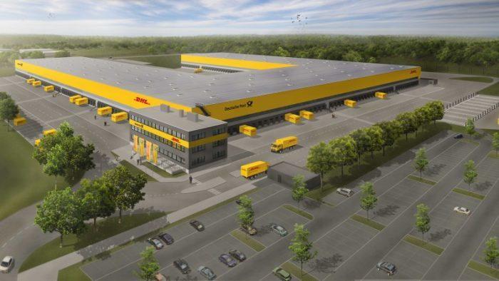 Erster Spatenstich für DHL`s neues Mega-Paketzentrum in Ludwigsfelde