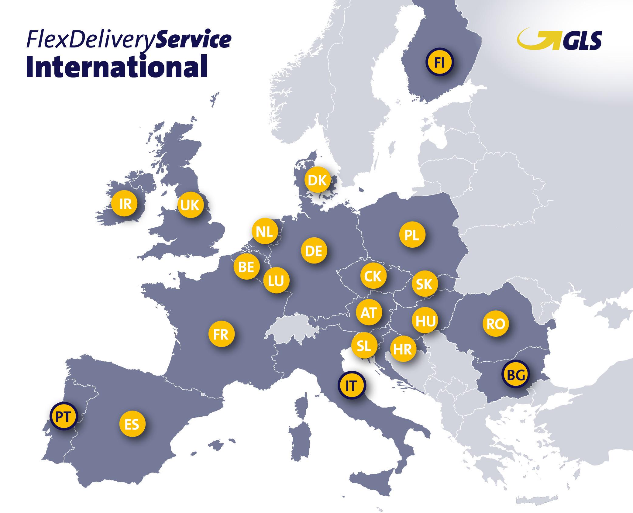 GLS erweitert internationalen Service