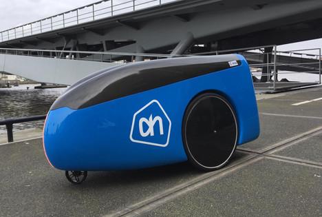 Niederländische Lebensmittelkette Albert Heijn testet autonome Lieferroboter