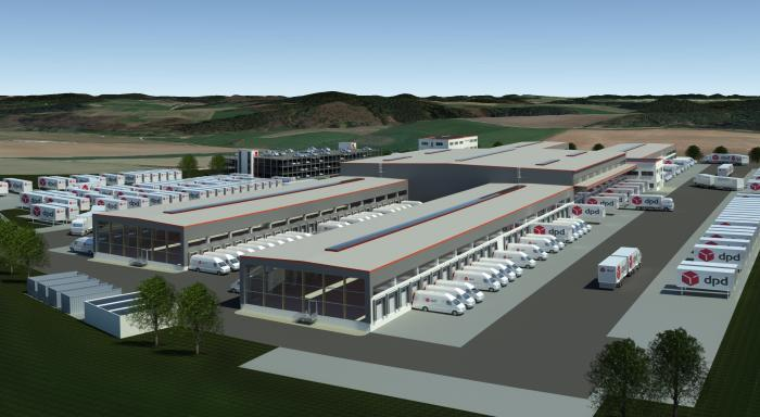 Neues Paketsortierzentrum von DPD in Augusburg
