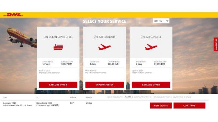 Anwender können ganz einfach Preise und Laufzeiten vergleichen und die für sie beste Option auswählen.