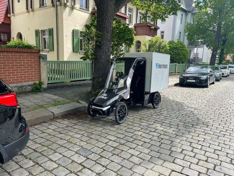 Urbane Mobilität: Hermes und Lastenradhersteller citkar kooperieren